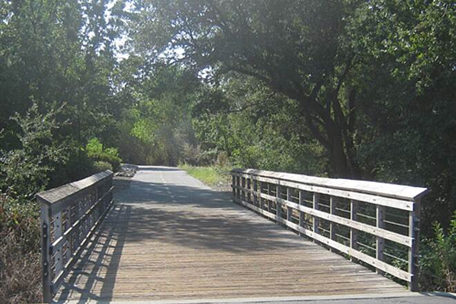 Humbug-Willow Creek Trail Bridge near Blue Ravine Rd Typical Folsom trail bridge
