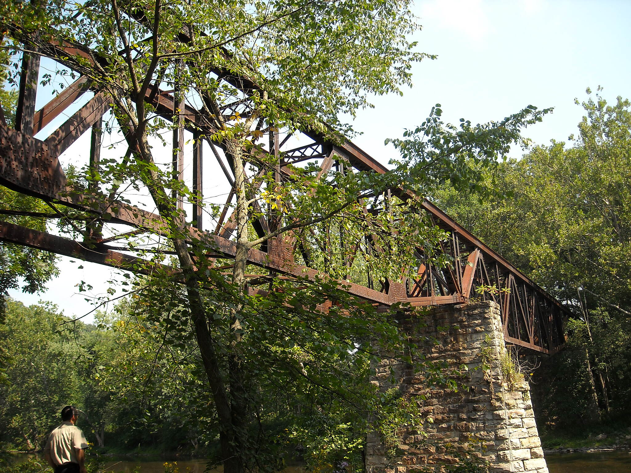 Huntingdon and Broad Top Rail Trail (H&BT Rail Trail) Trestle Bridge The photo depicts the trestle bridge to be re-decked an opened in 2014.