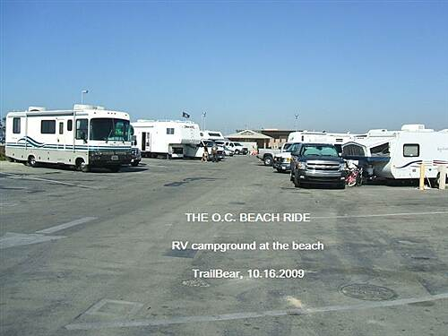 Huntington Beach Bicycle Trail THE O.C. BEACH RIDE There are RV campgrounds at Bolsa Chica and at Huntington Beach
