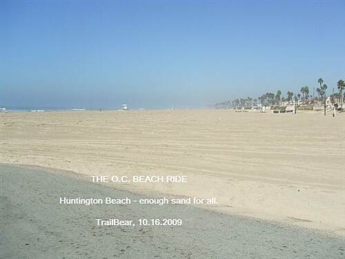 Huntington Beach Bicycle Trail THE O.C. BEACH RIDE Sand and more sand.