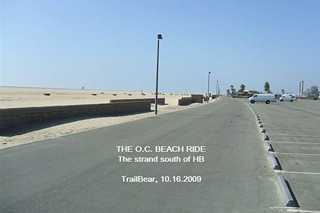 Huntington Beach Bicycle Trail THE O.C. BEACH RIDE The Strand south of Huntington Beach
