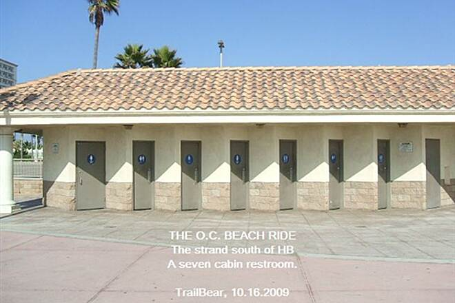 Huntington Beach Bicycle Trail THE O.C. BEACH RIDE Is seven enough?  In summer??
