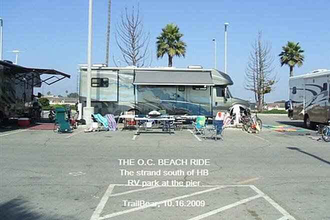 Huntington Beach Bicycle Trail THE O.C. BEACH RIDE RV park at the pier.