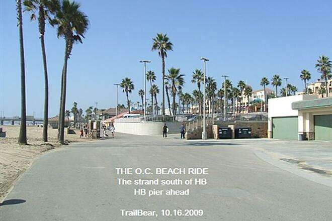 Huntington Beach Bicycle Trail THE O.C. BEACH RIDE Coming up on the pier