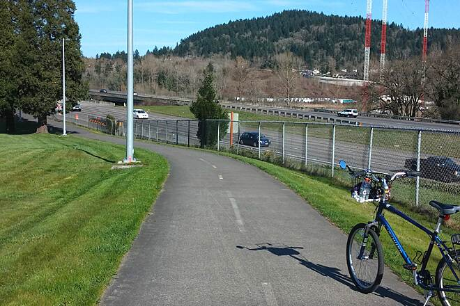 I-205 Multi-Use Path I - 205 Multi use Path. a nice view of Mt. Talbert from the I-205 Bike path. Sometimes a bit hilly.