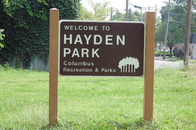 I-670 Downtown Connector Trail Parking at Hyden Park I started my ride on the I-670 Trail at the end/entrance at Airport Drive. I parked at the Ohio Dominican Collage building and rode along Airport Drive to the entrance of the trail. Very soon, about 100 yards I came upon another entrance from Hayden Park.