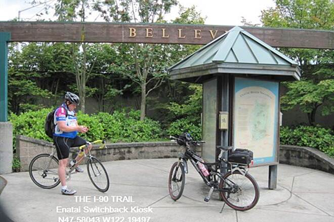 I-90 Trail THE I-90 TRAIL (Bellevue) Switchback info kiosk and gateway to Bellevue