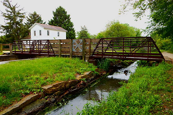 Illinois & Michigan Canal State Trail Foot bridge, 5-19-17 The Aux Sable area of the canal and trail is very interesting and historical.