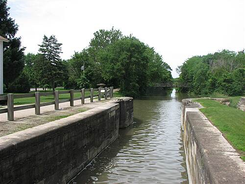 Illinois & Michigan Canal State Trail I&M Canal Path One of the restored locks along the canal