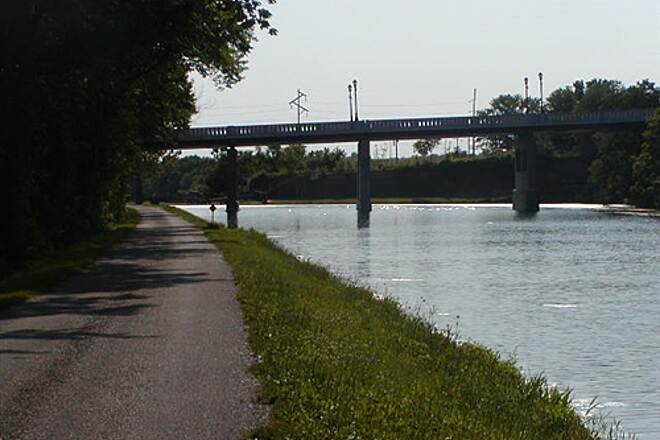 Illinois & Michigan Canal State Trail I&M Canal Path Approaching LaSalle, Illinois