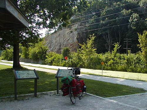 Illinois & Michigan Canal State Trail I&M Canal Path Split Rock - accesible only by bike or walking