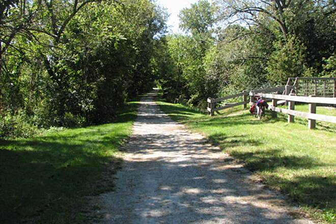 Illinois & Michigan Canal State Trail I & M Canal Trail Hard packed fine gravel surface of the trail