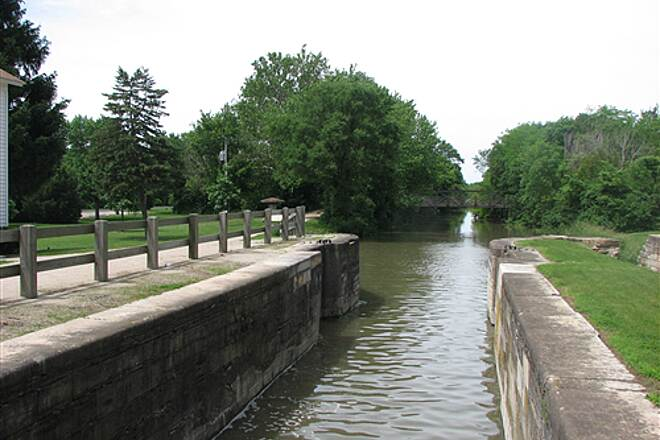 Illinois & Michigan Canal State Trail I & M Canal Trail One of the restored locks along the canal
