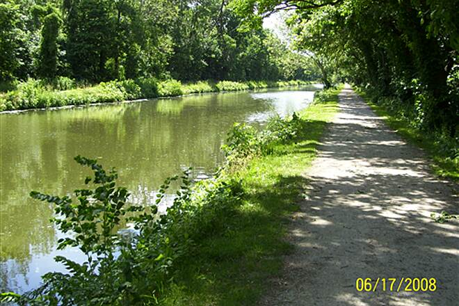 Illinois & Michigan Canal State Trail  Path is on both sides of the canal from Morris to Gebhard Woods State Park