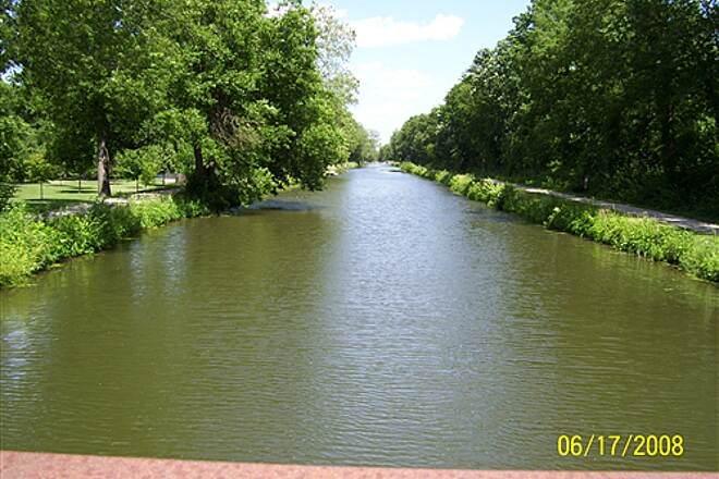 Illinois & Michigan Canal State Trail  From crossover bridge at Gebhard Woods State Park