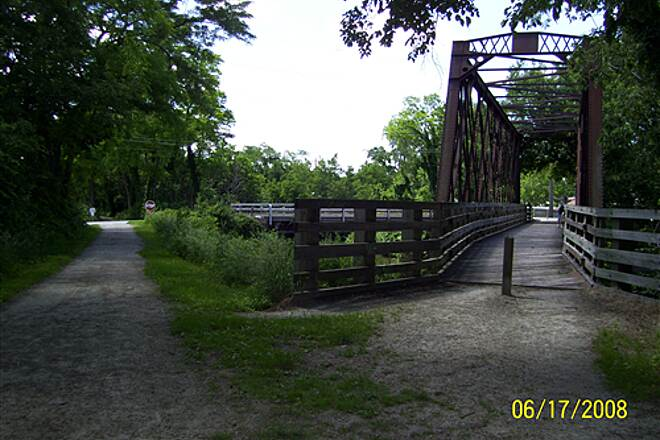 Illinois & Michigan Canal State Trail  At Morris, you can go down either side of canal to Gebhard Woods State Park