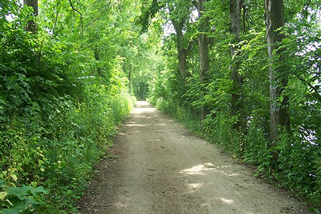 Illinois & Michigan Canal State Trail  nice shaded area near Dresden