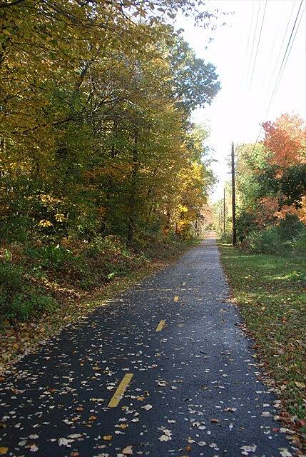 Independence Greenway Peabody Independecy Greenway bike path autum.