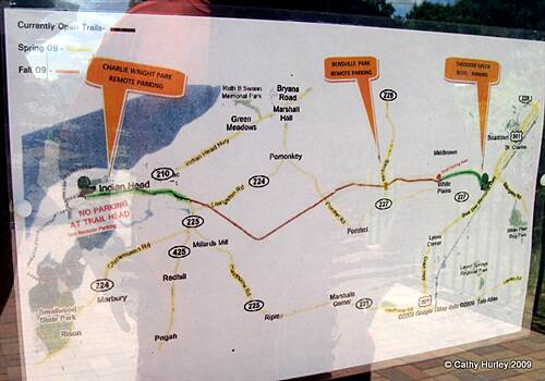 Indian Head Rail Trail Indian Head Rail Trail - Map Trail Map from the information board in White Plains parking area