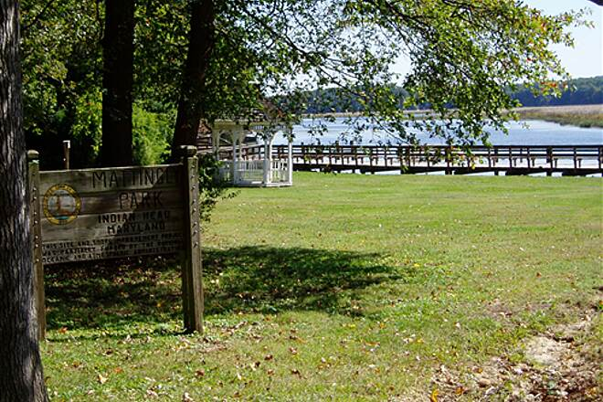 Indian Head Rail Trail Mattingly Park - Indian Head Rail Trail  View of Mattingly Park which is less than a quarter mile from the end of the trail in Indian Head, MD
