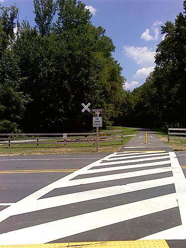 Indian Head Rail Trail Crossing at Bensville Road Crossing at Bensville Road