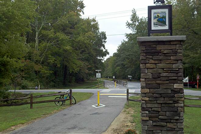 Indian Head Rail Trail Crosswalk at Middletown Rd - White Plains, MD