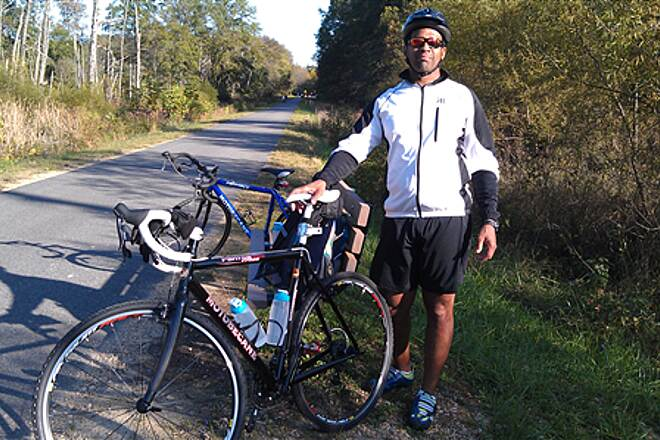 Indian Head Rail Trail Indian Head Trail Taking a quick stretch and getting some food break