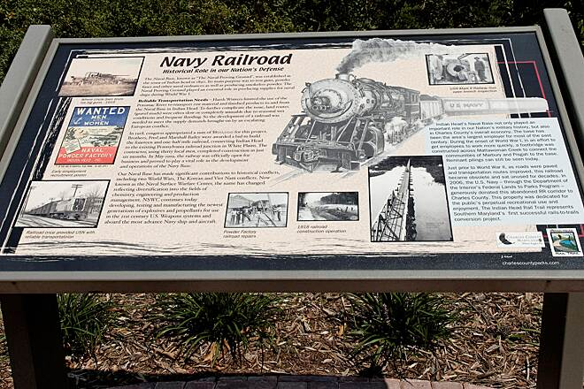 Indian Head Rail Trail Navy Railroad The History of this rail line
