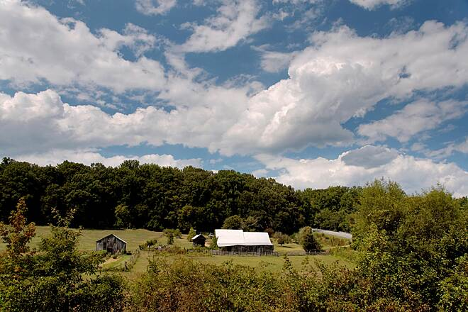 Indian Head Rail Trail Rustic Farm View Classic Rural Landscape