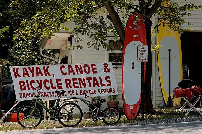 Indian Head Rail Trail At The Boat Road Rent A Bike or Kayak Here