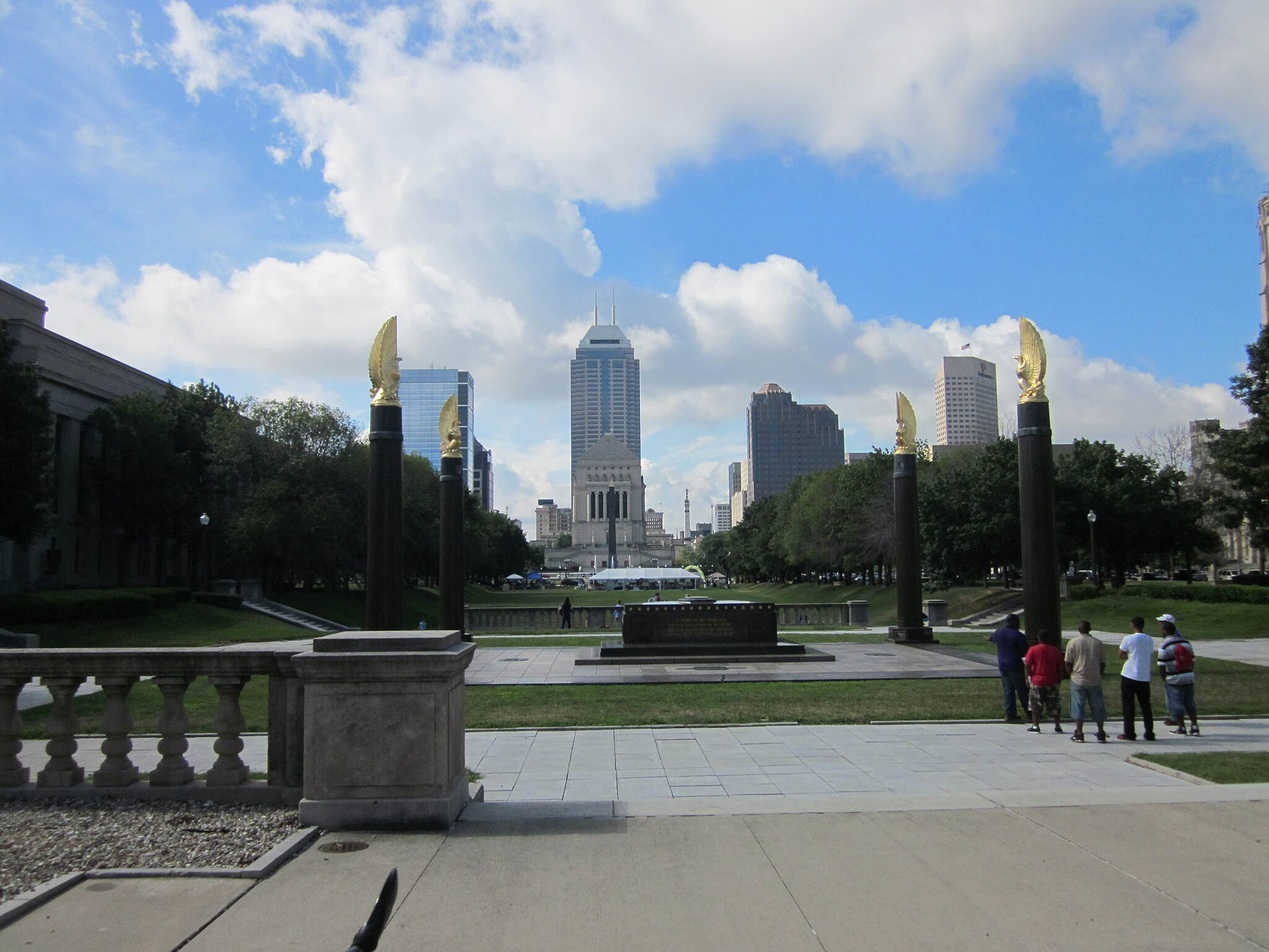 Indianapolis Cultural Trail American Legion Mall The expanse of American Legion Mall pays homage to America's veterans. Indianapolis boasts more war memorials than any city in America outside of Washington, DC.