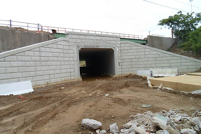 Industrial Track Greenway Trail New Castle Industrial Track New tunnel being built under Route 13, which will connect the existing northern and southern portions of the trail in the very near future. Taken August 2014.