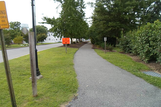 Industrial Track Greenway Trail New Castle Industrial Track New Castle city has done an excellent job beautifying their portion of the trail. Taken August 2014.