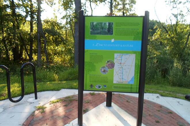 Industrial Track Greenway Trail New Castle Industrial Track One of 3 kiosks along the still little-used completed northern portion of the trail. This one is just south of the Baylor Womens' Correctional Facility.