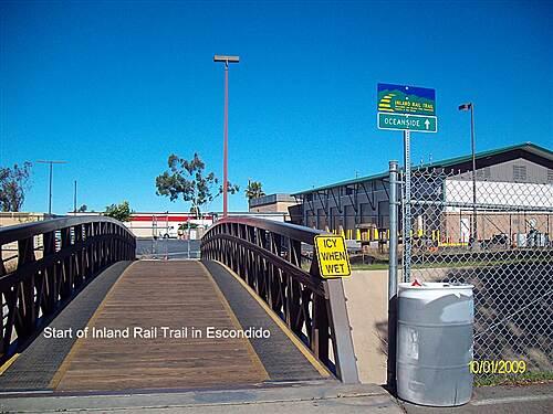 Inland Rail Trail San Marcos Inland Rail Trail Start out of Transit Parking Lot, Cross Creek & Turn left on North side of Creek.