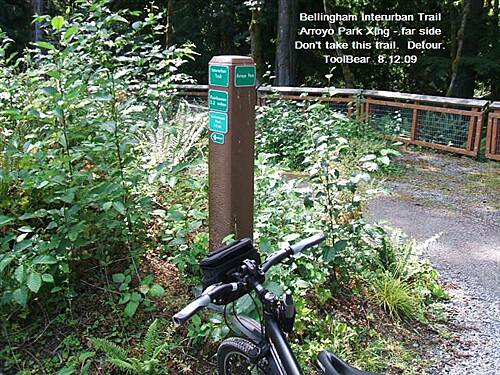 Interurban Trail (Bellingham) Bellingham Interurban Trail Backtrack up the road for a better trail down
