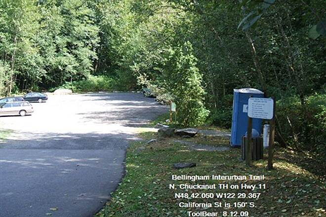 Interurban Trail (Bellingham) Bellingham Interurban Trail North Chuckanut Mt. Trailhead - only loo for miles