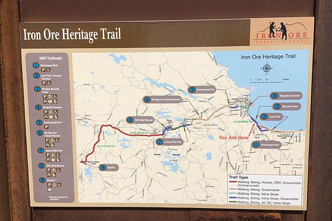 Iron Ore Heritage Trail Trail Map 2015