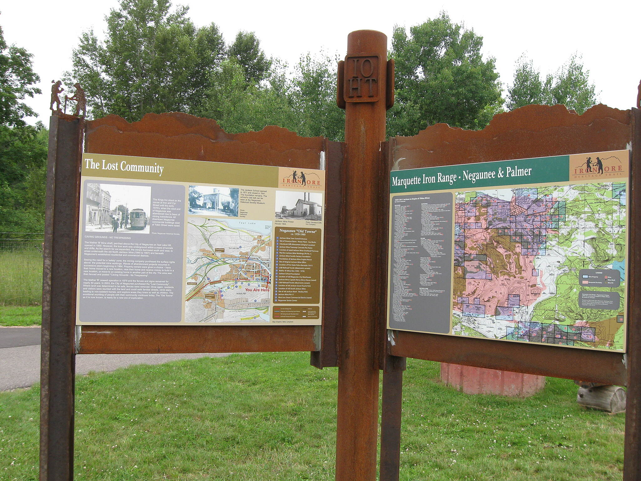 Iron Ore Heritage Trail Kiosk in Negaunee  Photo courtesy of Iron Ore Heritage Trail.