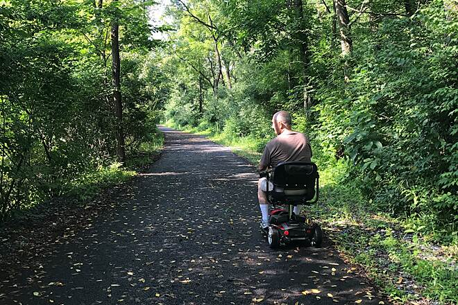 Ironton Rail-Trail Handicapped ready Perfect for mobility scooters