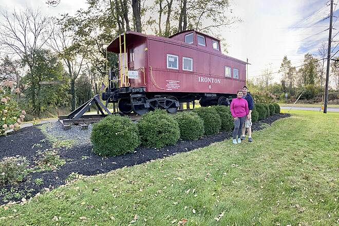 Ironton Rail-Trail Caboose Beautiful day for exploring a railroad trail!