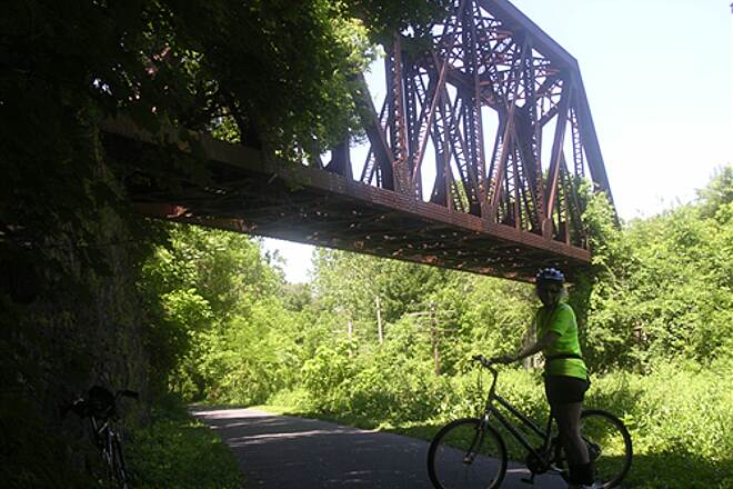 Ironton Rail-Trail May 2010 Old bridge