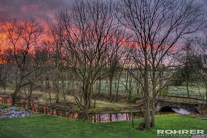 Ironton Rail-Trail Iron Trail Rail sunrise picture Sunrise Picture taken from my bedroom window Friday November 16, 2012 looking at the trail and creek. What a beautiful sight.