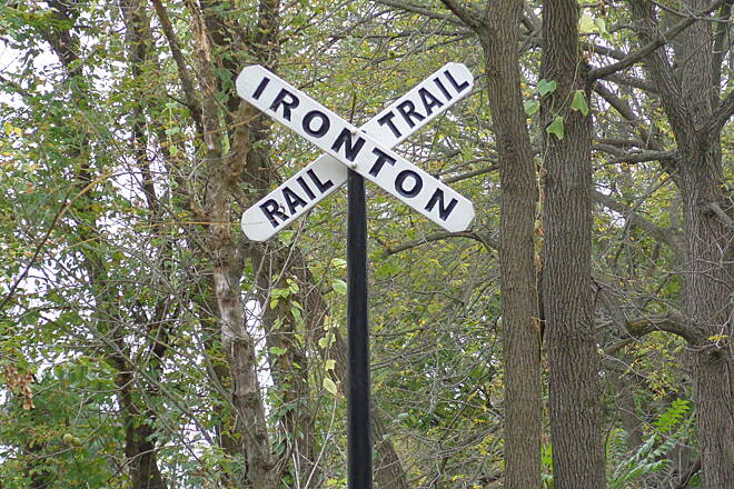 Ironton Rail-Trail Rail sign