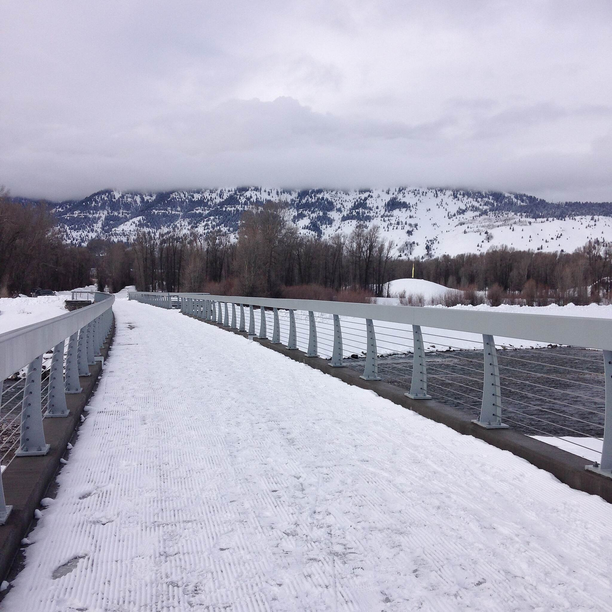 Jackson Hole Community Pathway System Snake River Bike/Ped Bridge Bridge over the Snake River, a vital connection between the Towns of Jackson and Wilson. Pathways extending from each bank will connect the two communities. The bridge was completed in the Fall of 2014.