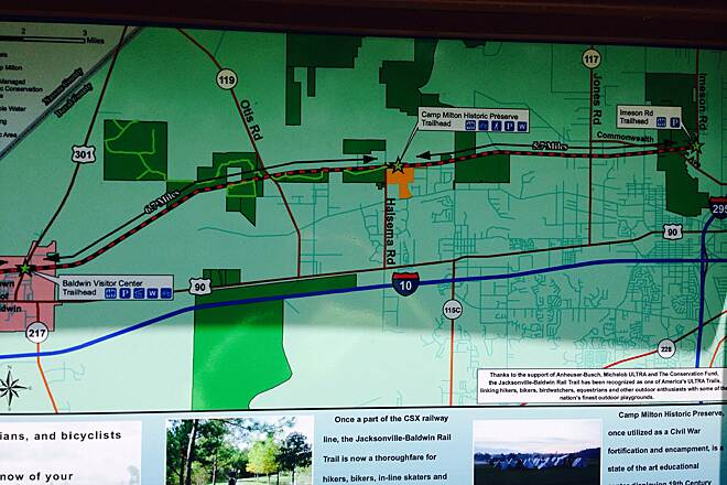 Rails To Trails Florida Map.Jacksonville Baldwin Rail Trail In Florida Traillink