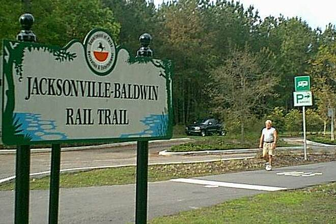 Jacksonville-Baldwin Rail-Trail Imeson Rd trailhead parking lot