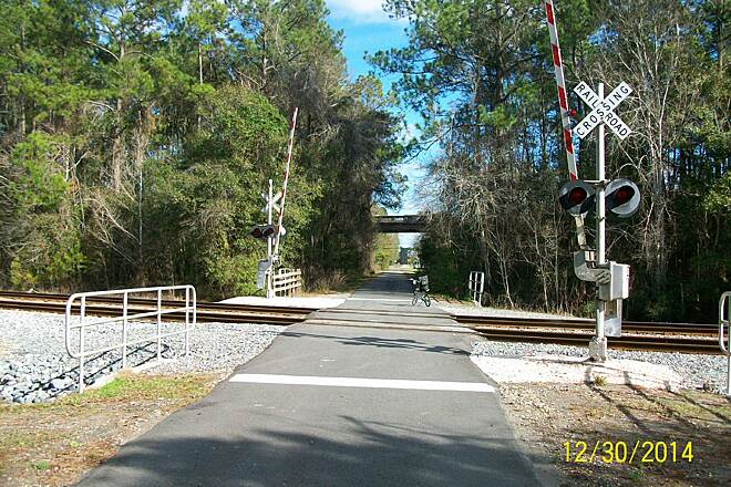 Jacksonville-Baldwin Rail-Trail Jax-Baldwin Tr trail crossing CSX & going under US 301