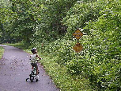 James River Heritage Trail (Blackwater Creek Natural Area) Liam reading the signs My 6-year-old-son reading the sign along the trail.