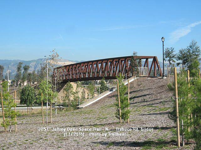 Jeffrey Open Space Trail JOSTNORTH - A new bridge Nice bridge over Trabuco.